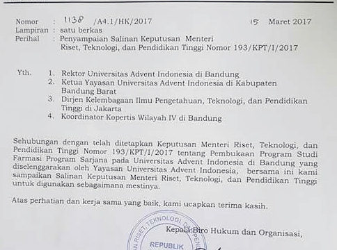 Prodi Farmasi Program Sarjana