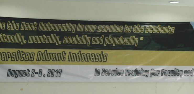 In Service Training for Faculty & Staff UNAI 2017
