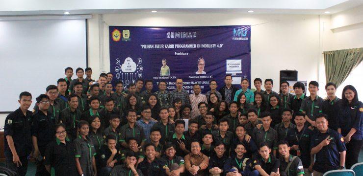 """Seminar """"Karir Programmer di Industri 4.0"""" Fakultas Teknologi Informasi"""