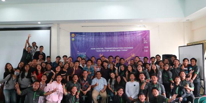 """""""How Digital Transformation Changes Our Way of Work and Think"""" – Seminar dan Workshop Fakultas Teknologi Informasi Semester Ganjil 2019/2020"""