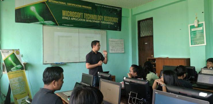 Training dan Ujian Sertifikasi Internasional Microsoft Technology Associate FTI UNAI Semester Ganjil 2019/2020