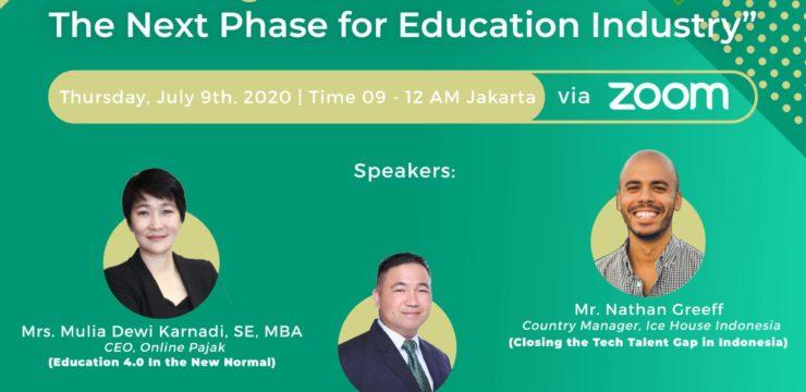Webinar Fakultas Teknologi Informasi – Digital Transformation: The Next Phase for Education Industry