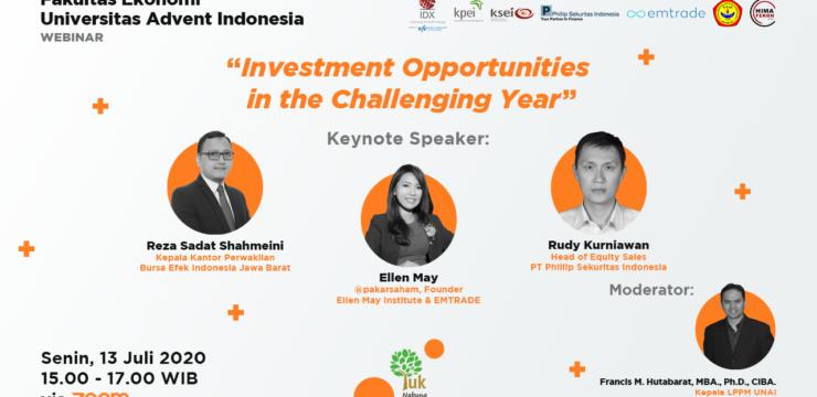 Webinar Fakultas Ekonomi – Investment Opportunities in the Challenging Year