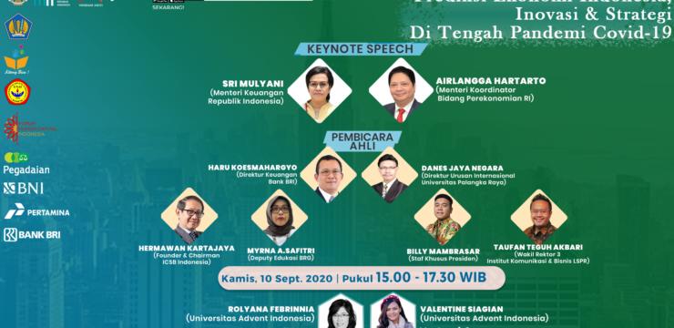 Webinar Nasional BUMN SERI 2 – Prediksi Ekonomi Indonesia, Inovasi & Strategi di Tengah Pandemi COVID-19