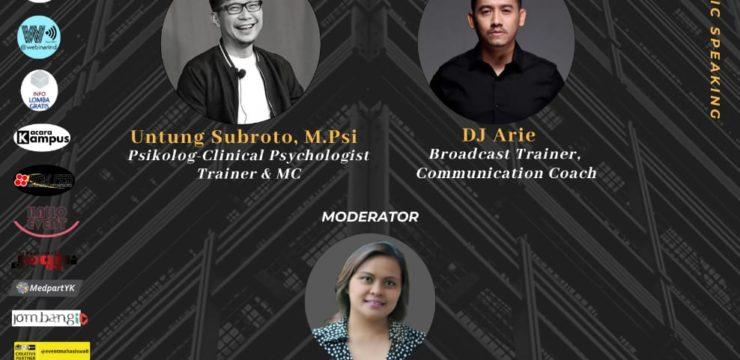 """HIMA FE-Webinar Public Speaking  """"How To Be A Good Speaker In Millennial Era"""""""