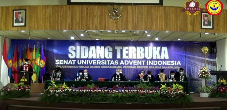Wisuda Daring Universitas Advent Indonesia Tahun Ajaran 2019-2020
