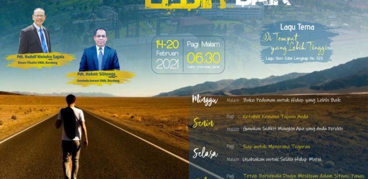 """Week of Prayer Universitas Advent Indonesia """"Menuju Kehidupan Yang Lebih Baik"""""""