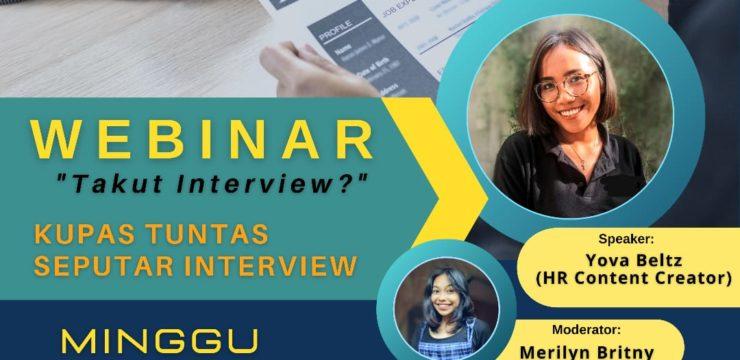 "Webinar Fakultas Ekonomi ""Takut Interview?"" Kupas Tuntas Seputar Interview"